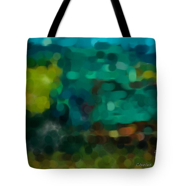 Green Truck In Abstract Tote Bag