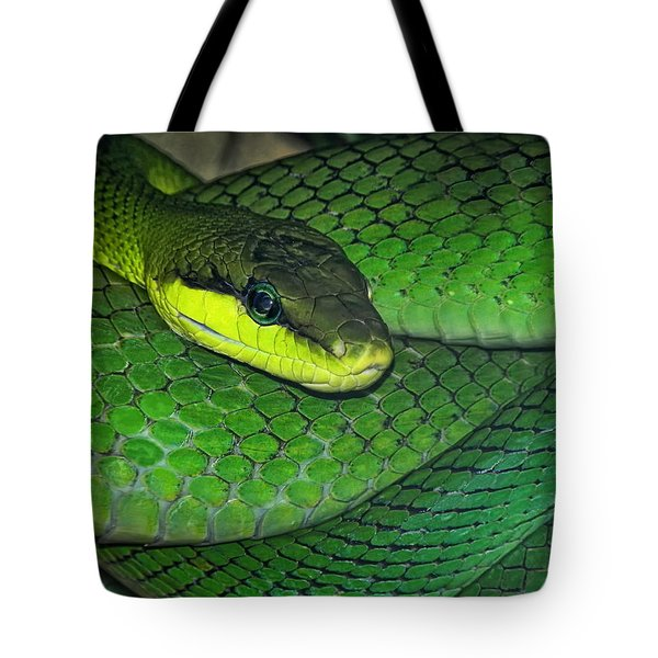 Green Viper Tote Bag