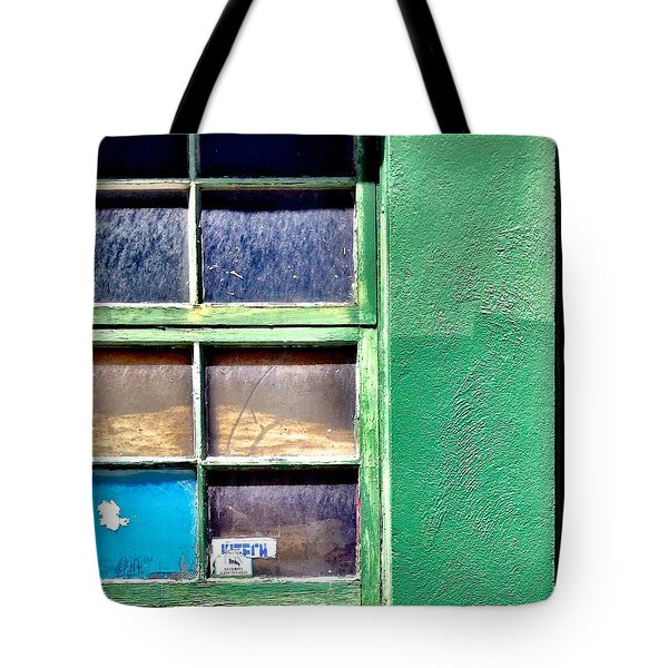 Green Window Corner Tote Bag