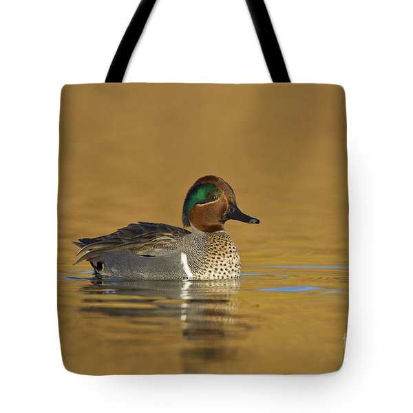 Green Wing Teal Tote Bag