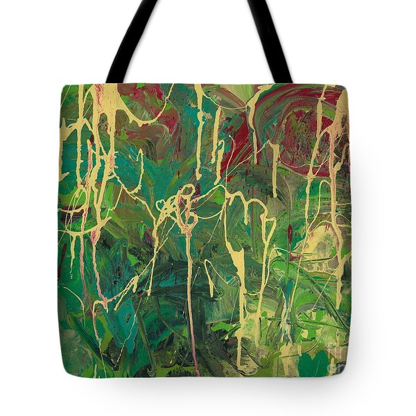 Green Yellow Abstract Tote Bag