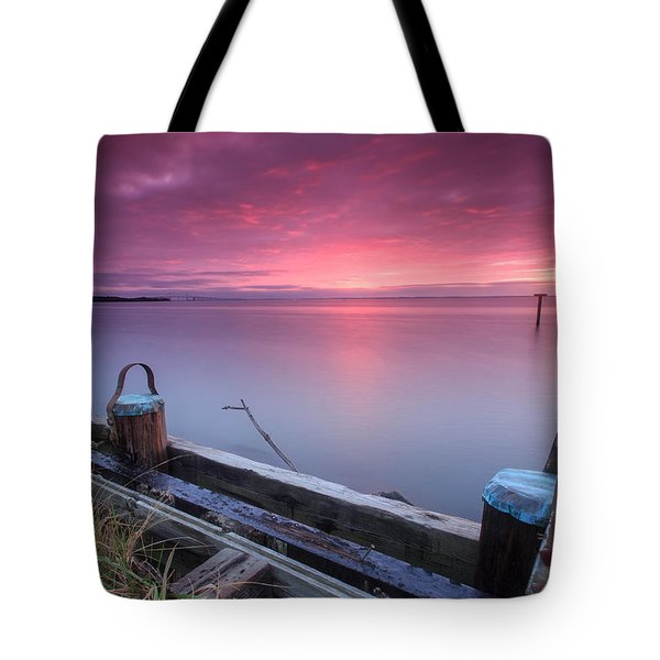 Tote Bag featuring the photograph Greenbury Point Sunrise by Jennifer Casey