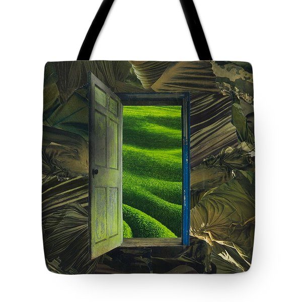 Greener Pastures Tote Bag by Denise Mazzocco