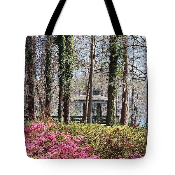 Greenfield Park And Lake Tote Bag by Cynthia Guinn