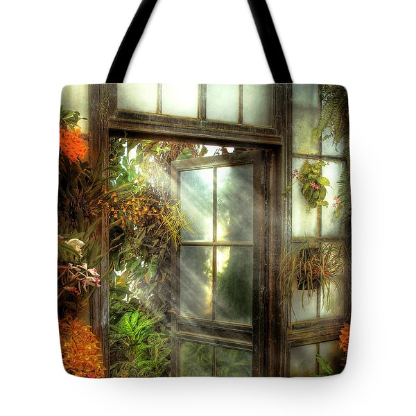 Greenhouse - The Door To Paradise Tote Bag by Mike Savad