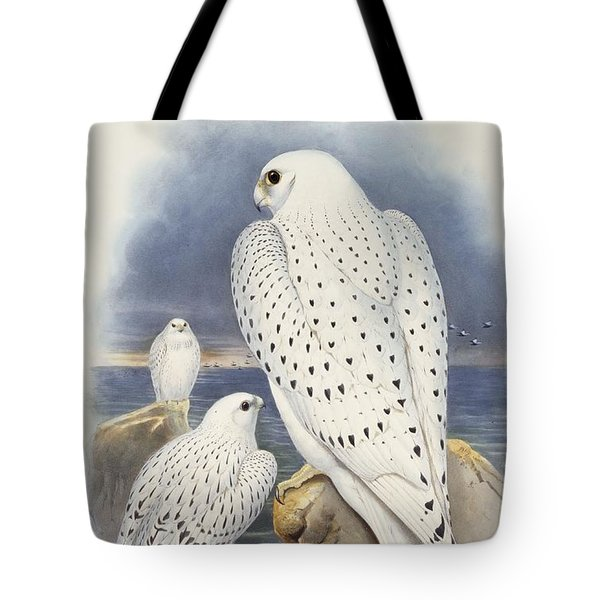 Greenland Falcon Tote Bag by John Gould
