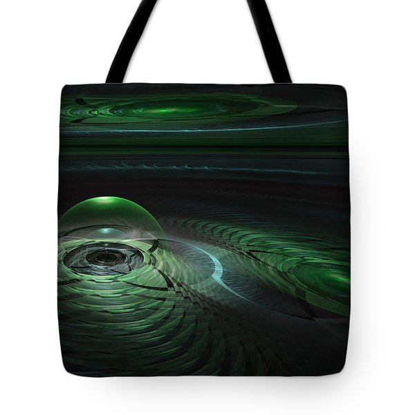 Tote Bag featuring the digital art Greenland Outpost by GJ Blackman