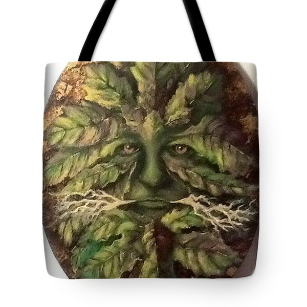 Tote Bag featuring the painting Greenman by Megan Walsh