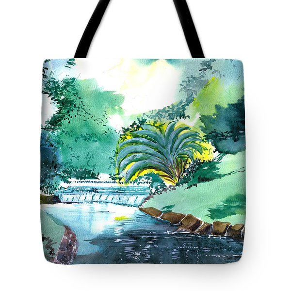 Greens 1 Tote Bag by Anil Nene