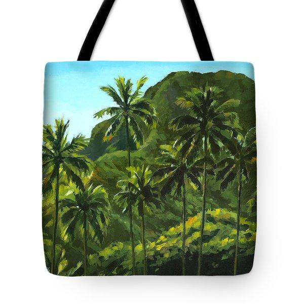 Greens Of Kahana Tote Bag