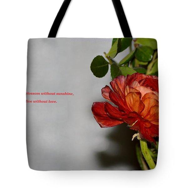 Greeting Of Love Tote Bag by Sonali Gangane