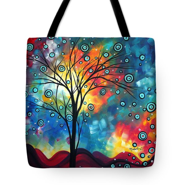 Greeting The Dawn By Madart Tote Bag by Megan Duncanson