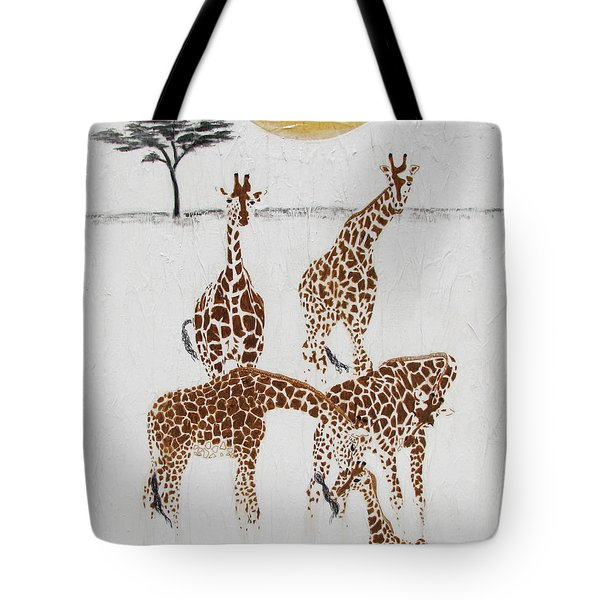 Tote Bag featuring the painting Greeting The New Arrival by Stephanie Grant