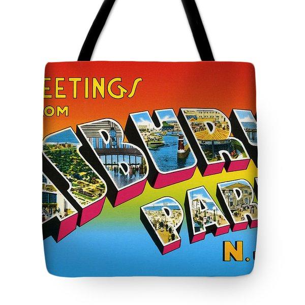 Greetings From Asbury Park Nj Tote Bag