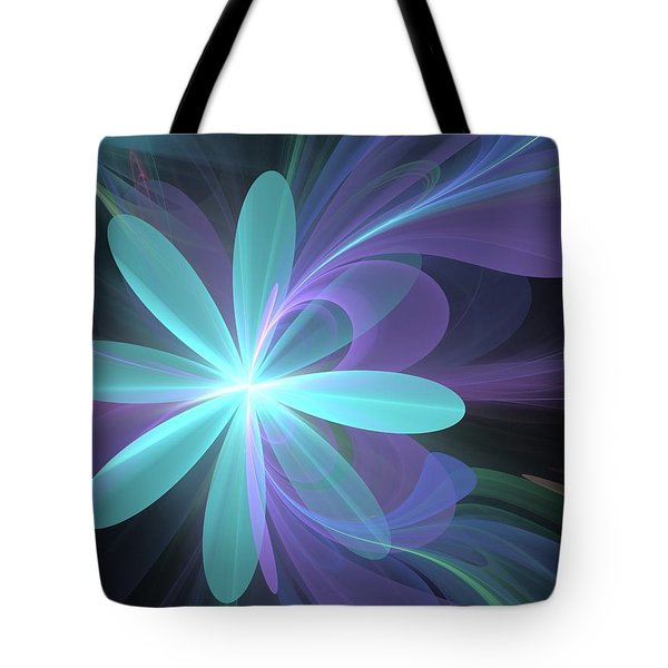 Tote Bag featuring the digital art Greetings From Ethereal Realms by Svetlana Nikolova