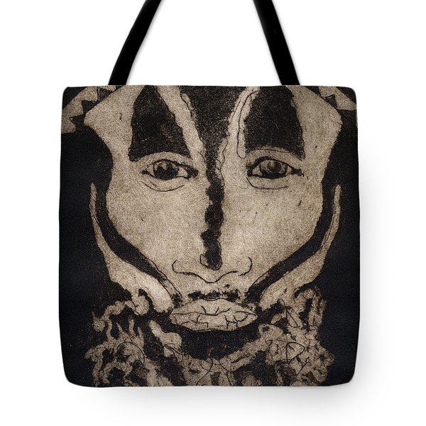 Greetings From New Guinea - Mask - Tribesmen - Tribesman - Tribal - Jefe - Chef De Tribu Tote Bag