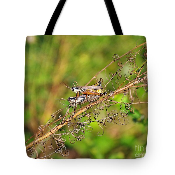 Gregarious Grasshoppers Tote Bag