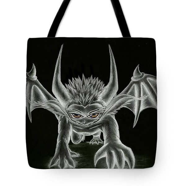 Tote Bag featuring the painting Grevil Statue by Shawn Dall