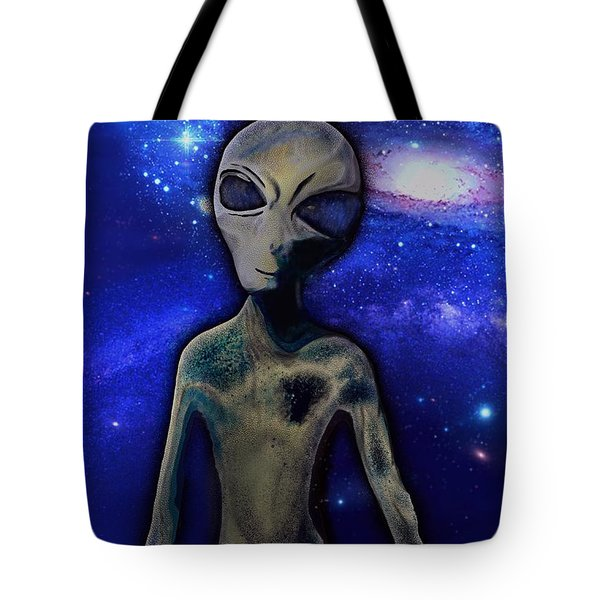 Tote Bag featuring the digital art Grey By M.a by Mark Taylor