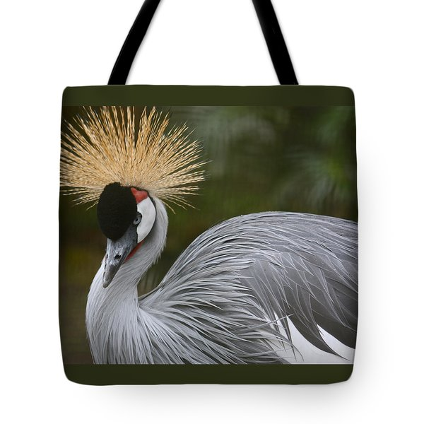 Grey Crowned Crane Tote Bag by Venetia Featherstone-Witty