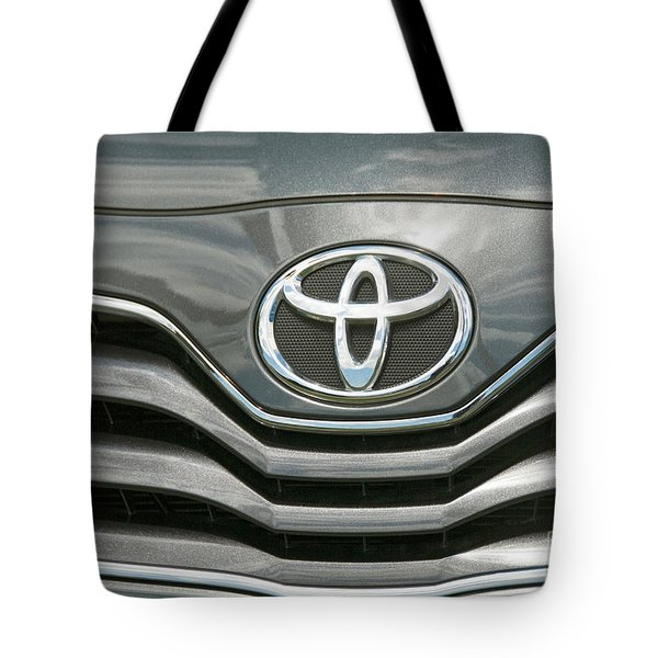Grey Toyota Grill And Emblem Smile Tote Bag