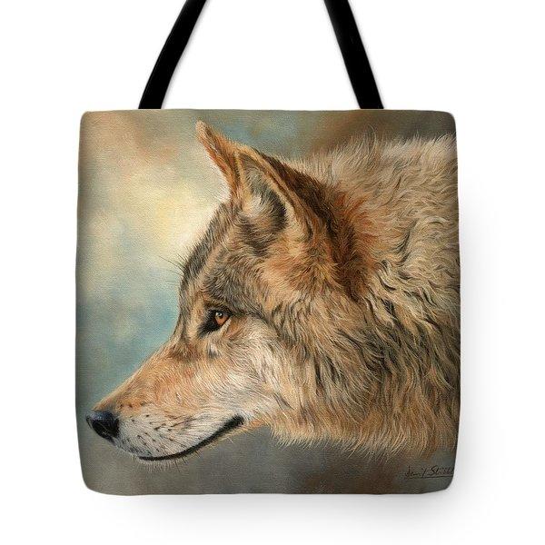 Grey Wolf 3 Tote Bag