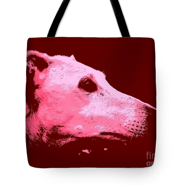Tote Bag featuring the photograph Greyhound Profile by Clare Bevan