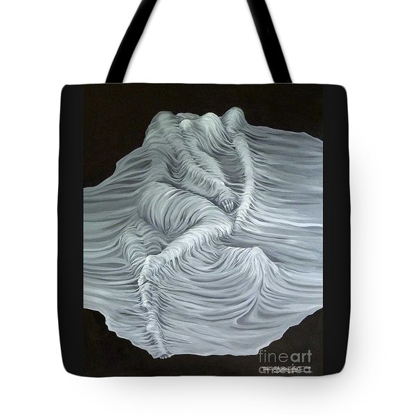 Tote Bag featuring the painting Greyish Revelation by Fei A