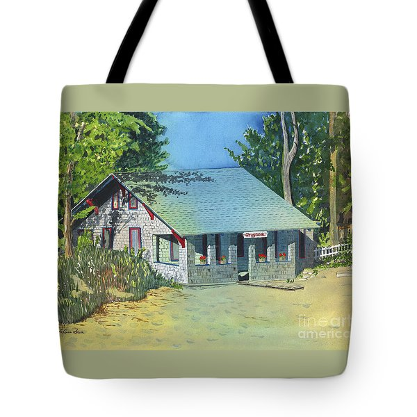 Tote Bag featuring the painting Graynook by LeAnne Sowa