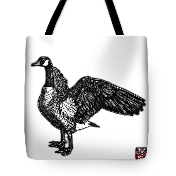 Tote Bag featuring the mixed media Greyscale Canada Goose Pop Art - 7585 - Wb by James Ahn