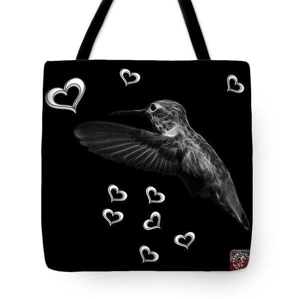 Greyscale Hummingbird - 2055 F M Tote Bag by James Ahn