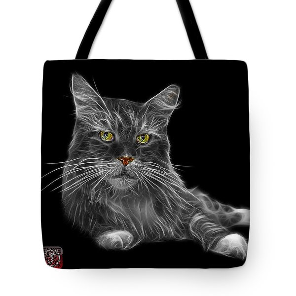 Greyscale Maine Coon Cat - 3926 - Bb Tote Bag