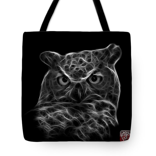 Greyscale Owl 4436 - F M Tote Bag by James Ahn
