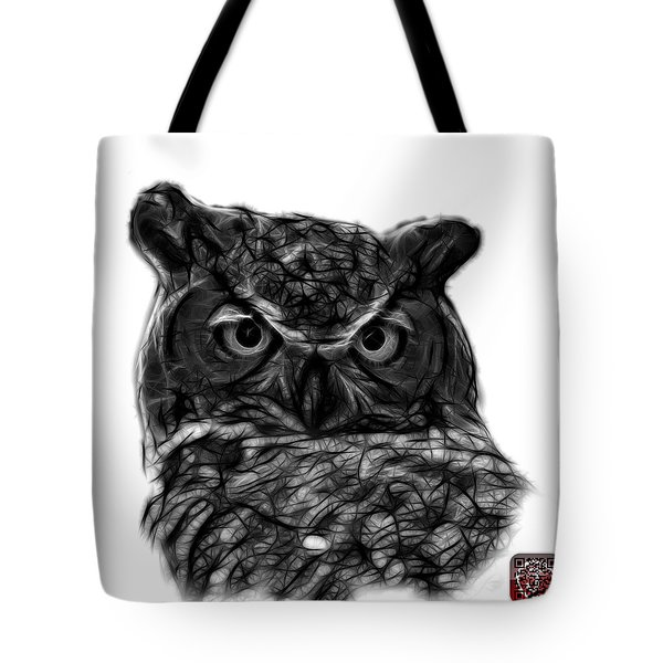 Greyscale Owl 4436 - F S M Tote Bag