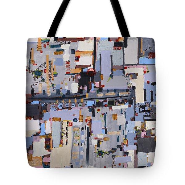 Gridlock Tote Bag by Regina Valluzzi