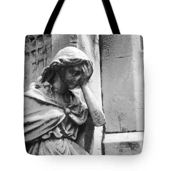Grieving Statue Tote Bag by Jennifer Ancker