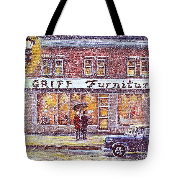 Griff Valentines' Birthday Tote Bag by Rita Brown