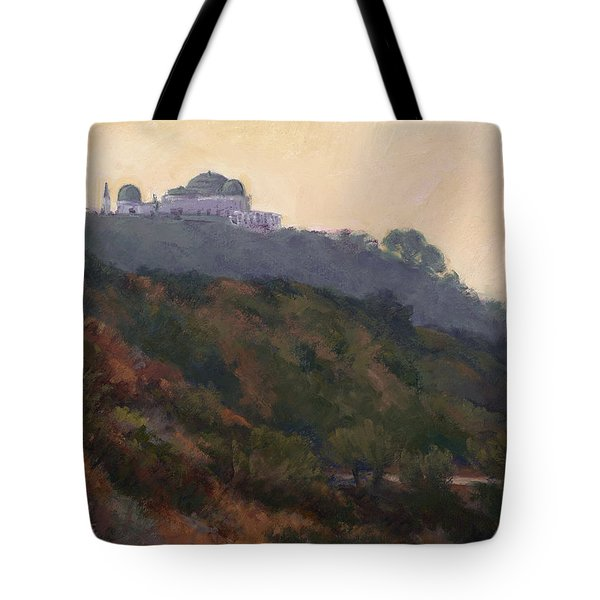 Griffith Park Observatory- Late Morning Tote Bag