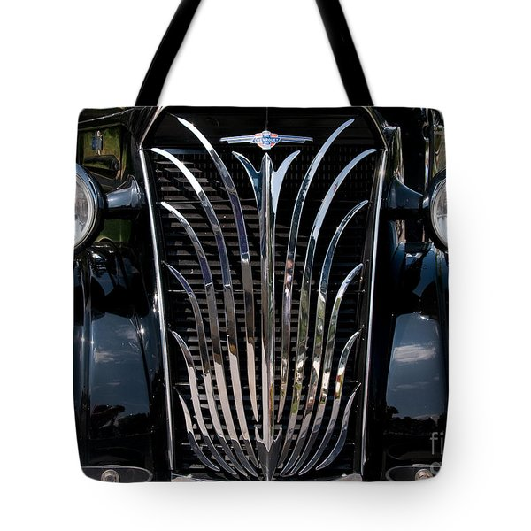 Grill And Headlights Tote Bag by Vivian Christopher