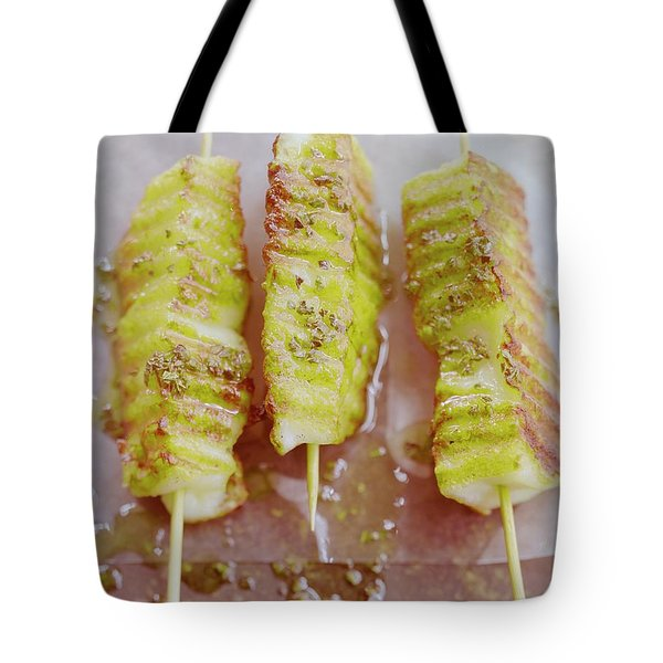 Grilled Haloumi Skewers Tote Bag