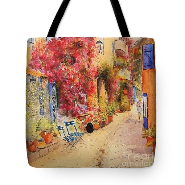 Tote Bag featuring the painting Grimauld Village by Beatrice Cloake
