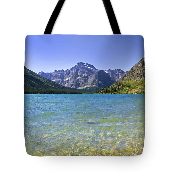 Grinnel Lake Glacier National Park Tote Bag by Rich Franco