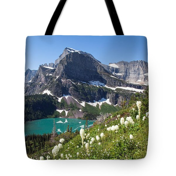 Grinnell Lake With Beargrass Tote Bag by Jack Bell