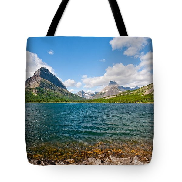 Grinnell Point From Swiftcurrent Lake Tote Bag