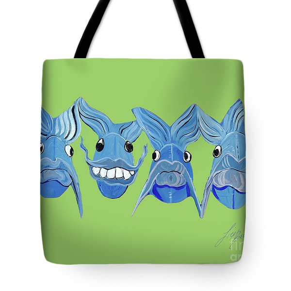 Grinning Fish Tote Bag