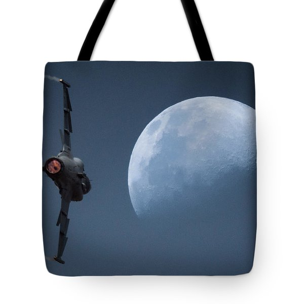 Gripen Moon Tote Bag