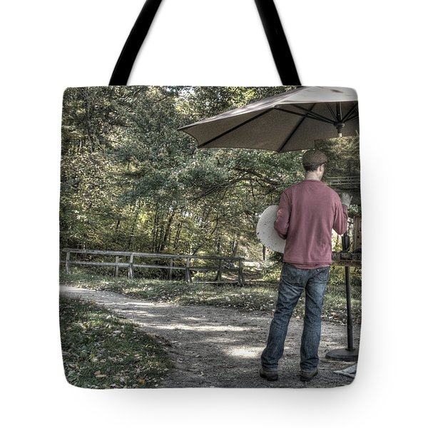 Grist Mill Artist Tote Bag by Mark Valentine