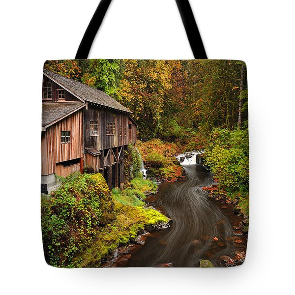 Grist Mill In Autumn Tote Bag