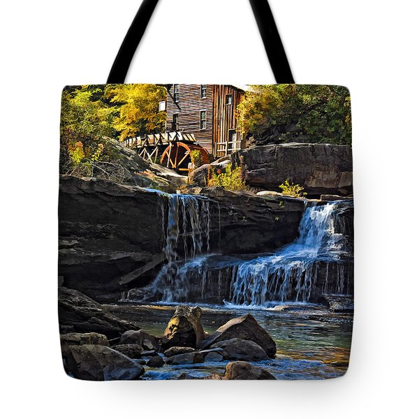 Grist Mill In Babcock State Park West Virginia Tote Bag by Kathleen K Parker