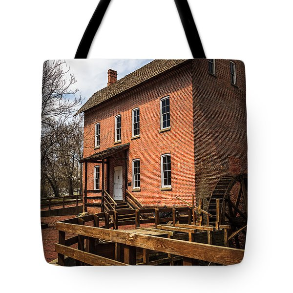 Grist Mill In Hobart Indiana Tote Bag by Paul Velgos